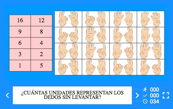 Juego Interactivo para Multiplicar con los Dedos