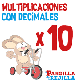 Juego Interactivo para Multiplicar con Decimales Tabla del 10