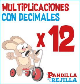 Juego Interactivo para Multiplicar con Decimales Tabla del 12