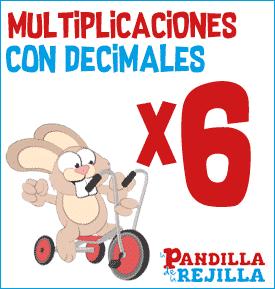 Juego Interactivo para Multiplicar con Decimales Tabla del 6
