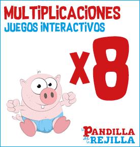 Juego Interactivo para Multiplicar Tabla del 8