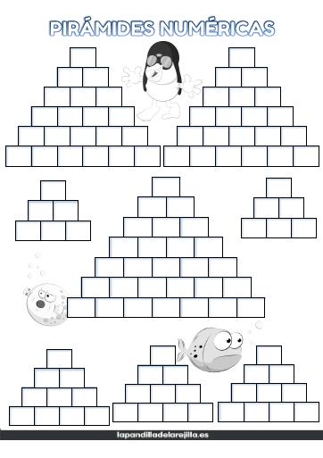 Plantilla Pirámide Numérica