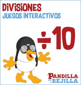 Juego Interactivo para Dividir Tabla 10