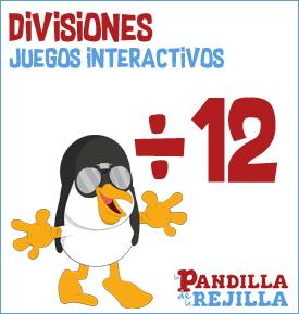 Juego Interactivo para Dividir Tabla 12