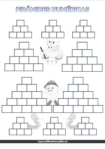 Plantilla de Pirámide Numérica