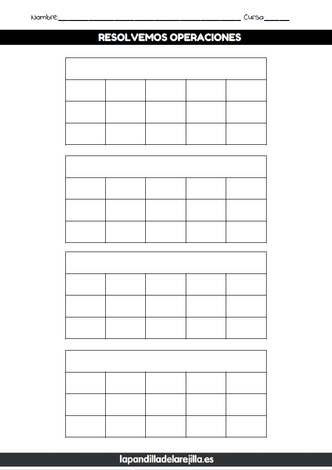Rejilla ABN 3 Filas 5 Columnas
