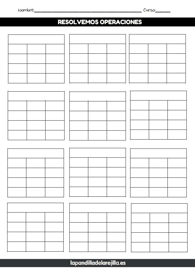 Rejilla ABN 4 Filas 3 Columnas
