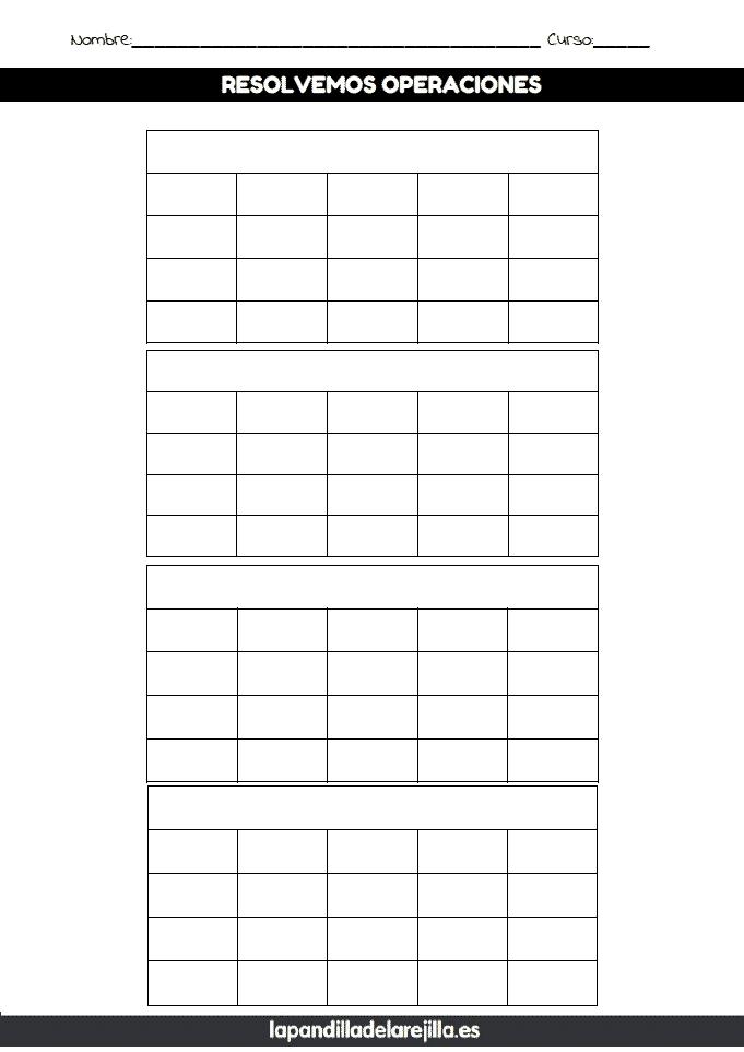 Rejilla ABN 4 Filas 5 Columnas