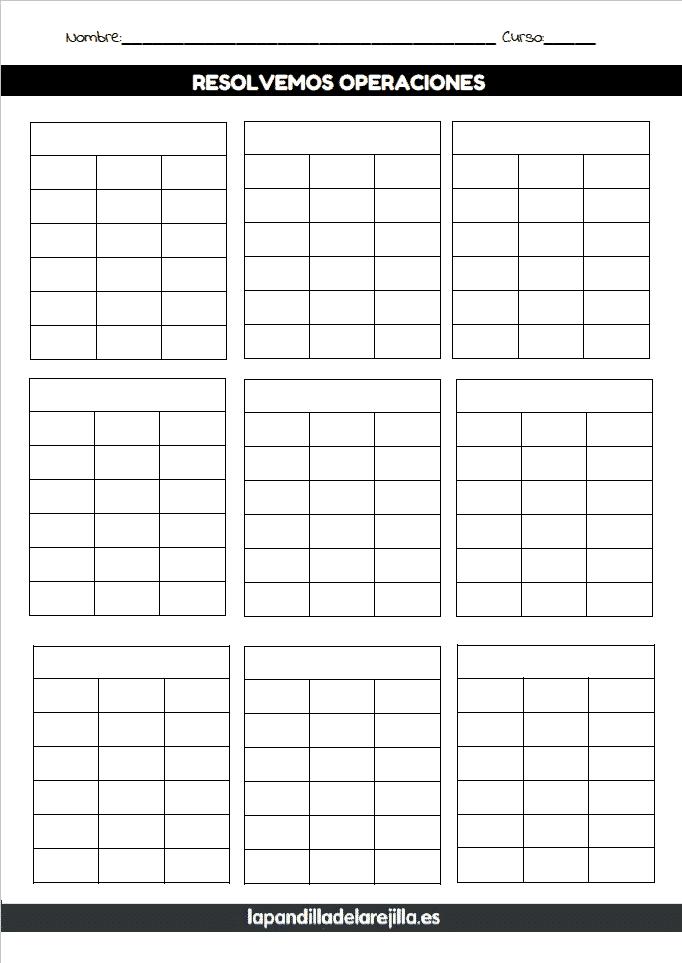 Rejilla ABN 6 Filas 3 Columnas