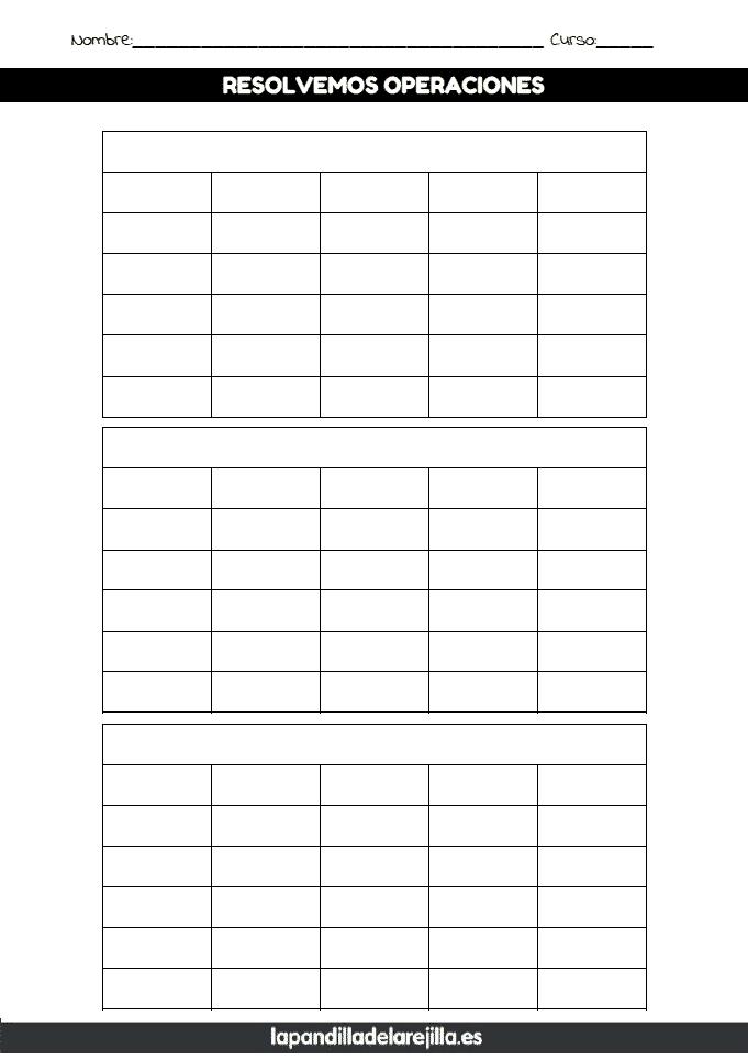 Rejilla ABN 6 Filas 5 Columnas